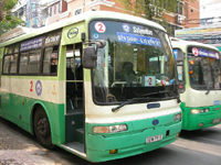 Stadtbusse in Ho-Chi-Minh-Stadt